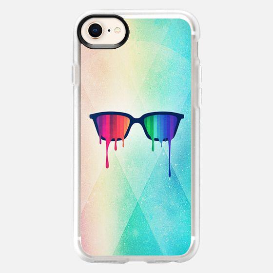 Love Wins! Rainbow - Spectrum (Pride) / Hipster Nerd Glasses - Snap Case
