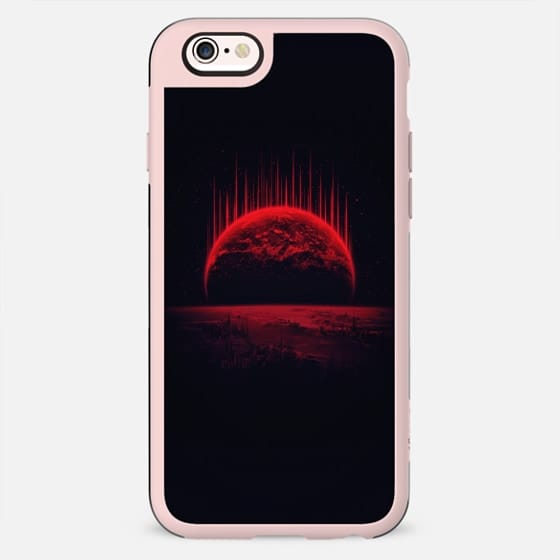 Lost Home! Colosal Future Sci-Fi Deep Space Scene in diabolic Red - New Standard Case