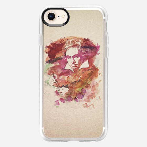 Ludwig van Beethoven Watercolor Remix - Snap Case