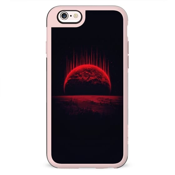 Lost Home! Colosal Future Sci-Fi Deep Space Scene in diabolic Red