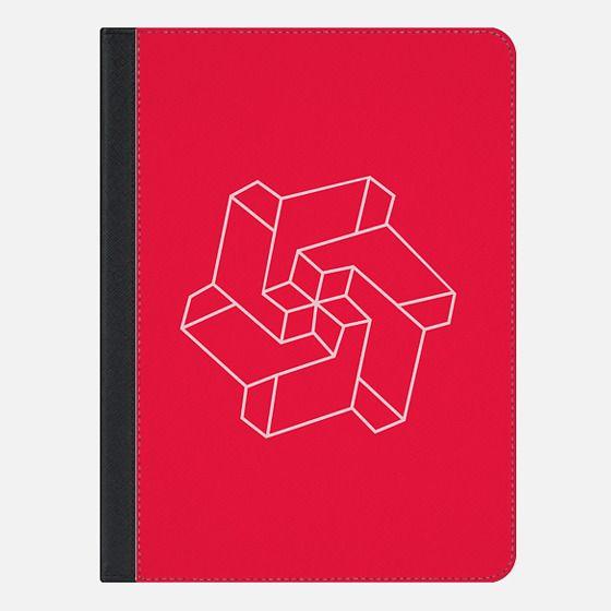 Minimal /  Chakra Symbol Art / Optical Illusion Star - iPad Folio Case
