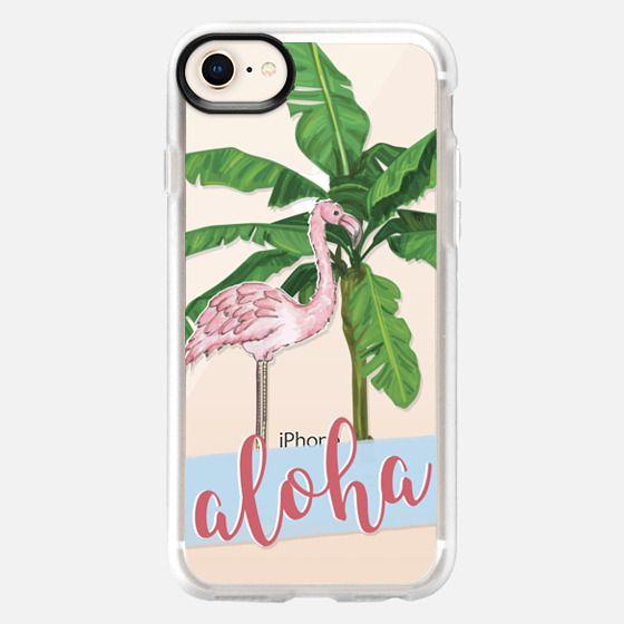 flamingo aloha - Snap Case