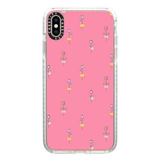 iPhone XS Max Cases - Rosewall // pink