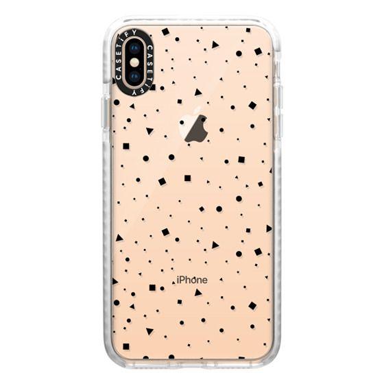 iPhone XS Max Cases - Shape Confetti // black