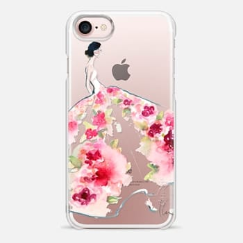 iPhone 7 Case Paper Fashion x Rose Gown