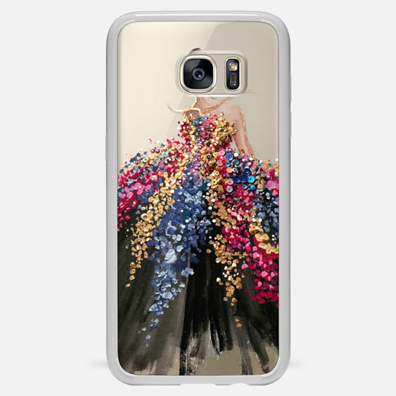 Galaxy S7 Edge Hülle - Blooming Gown