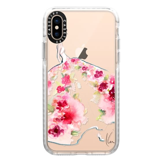 iPhone XS Cases - Paper Fashion x Rose Gown
