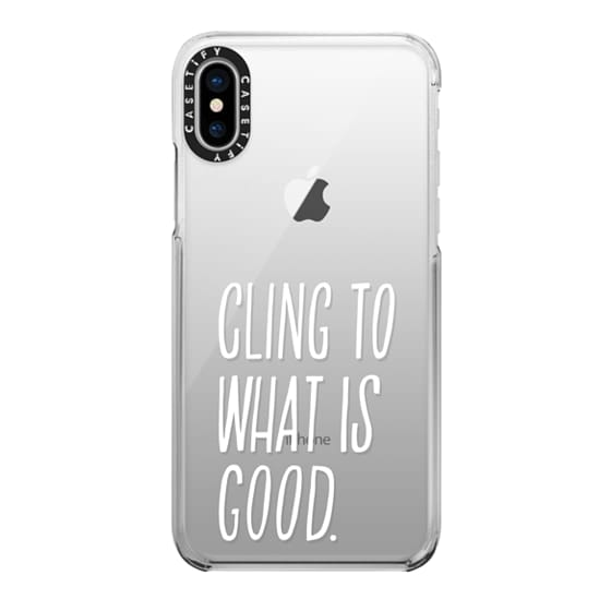 iPhone X Cases - ROMANS 12:9 (WHITE)