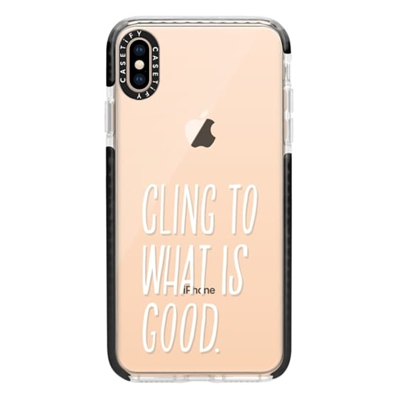 iPhone XS Max Cases - ROMANS 12:9 (WHITE)
