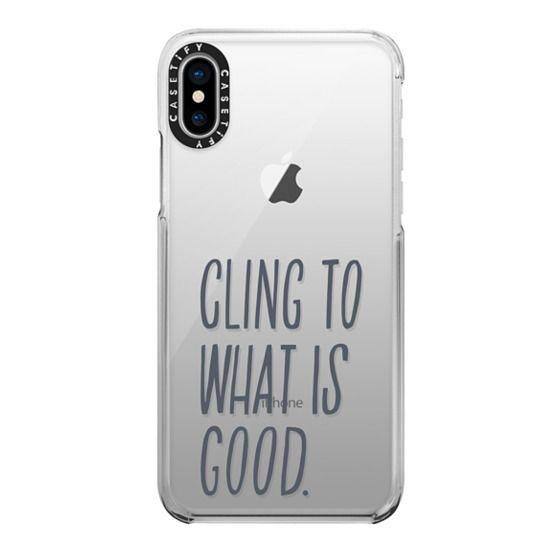 iPhone X Cases - ROMANS 12:9 (GREY)