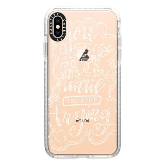 iPhone XS Max Cases - EINSTEIN (WHITE)