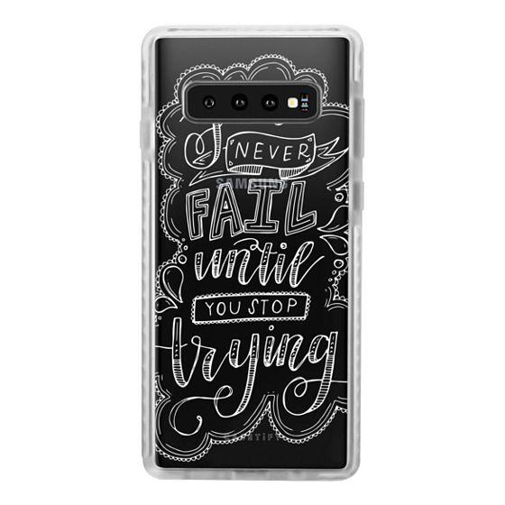 Samsung Galaxy S10 Plus Cases - EINSTEIN (WHITE)