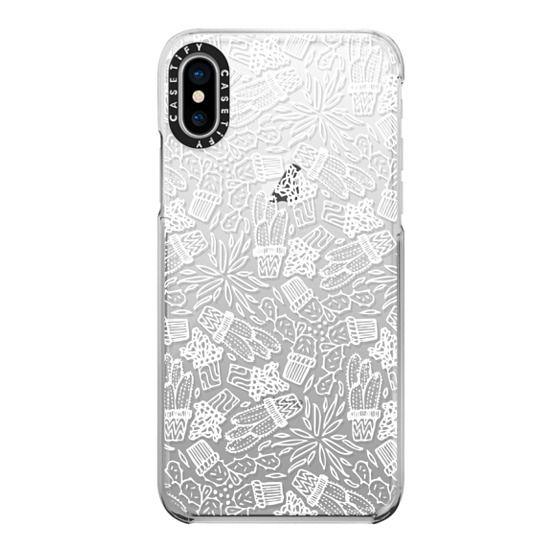 iPhone X Cases - CACTI (WHITE)