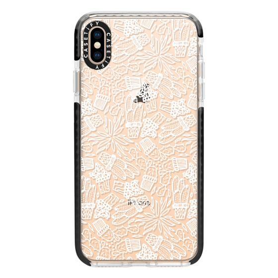 iPhone XS Max Cases - CACTI (WHITE)