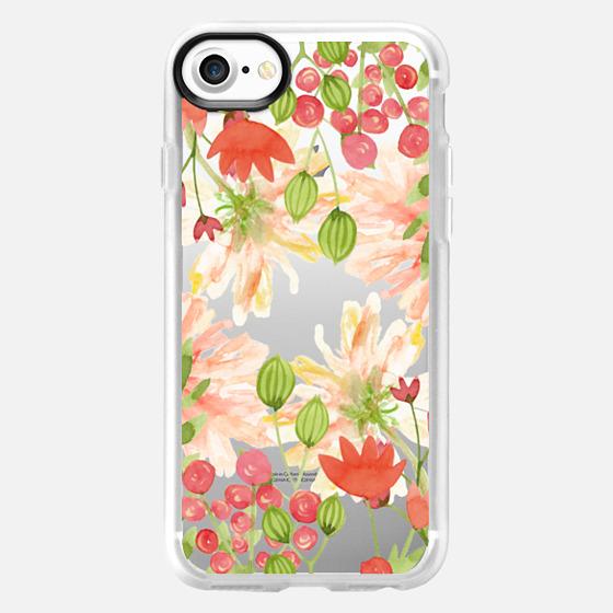 Floral watercolour wild flowers - Wallet Case