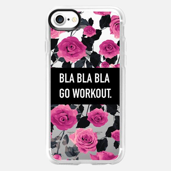 Bla bla bla go workout roses floral - Wallet Case