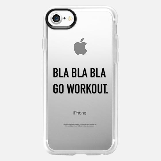 Bla bla bla go workout black - Wallet Case