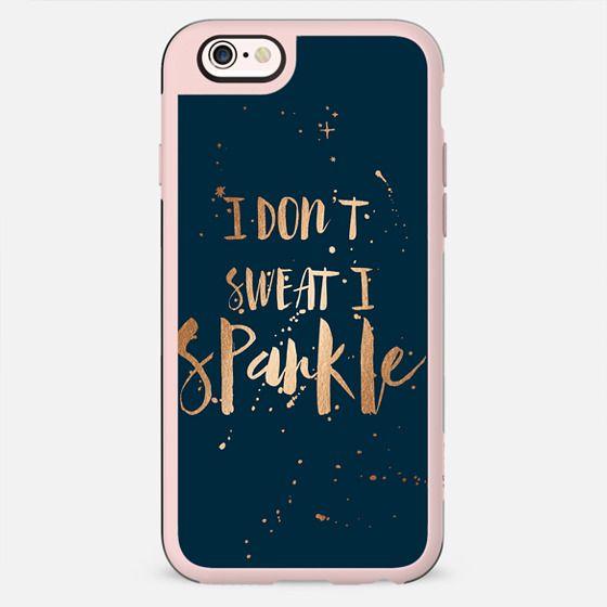 I don't sweat, I sparkle - midnight blue - New Standard Case