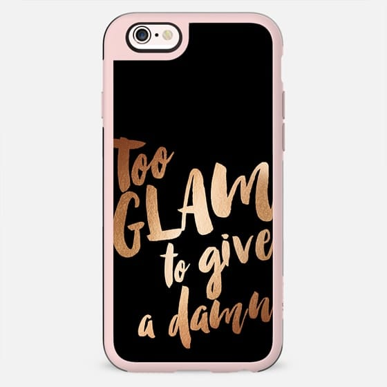 Too glam to give a damn - black rose - New Standard Case