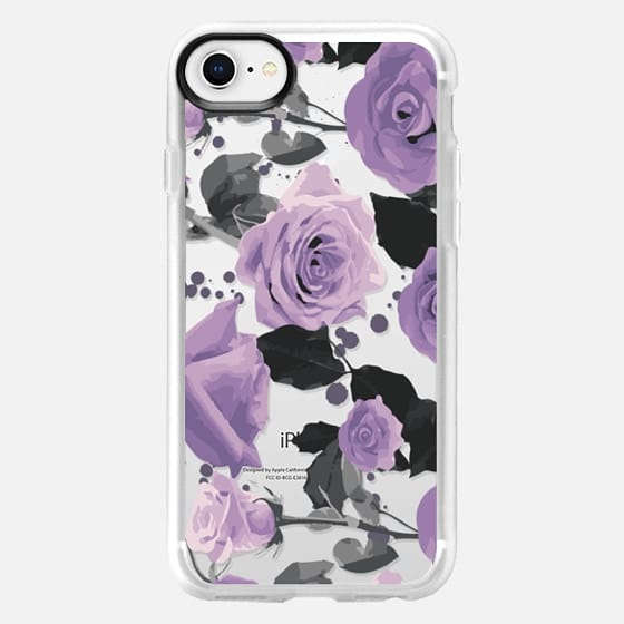 Pastel purple roses - Snap Case