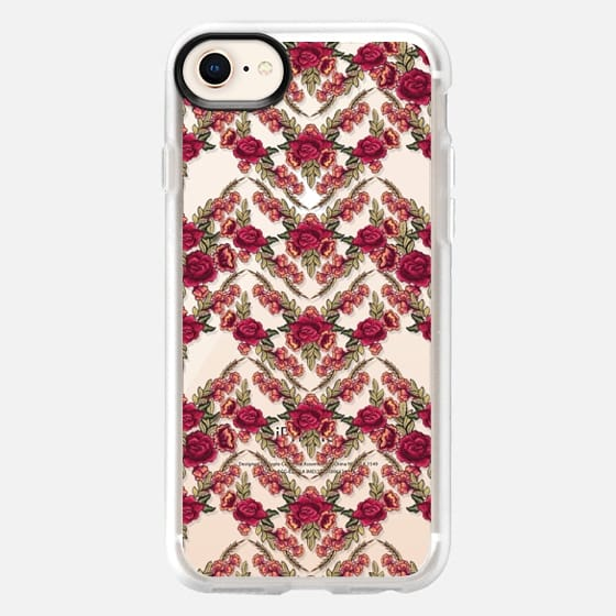 Embroidered floral patterns - Snap Case