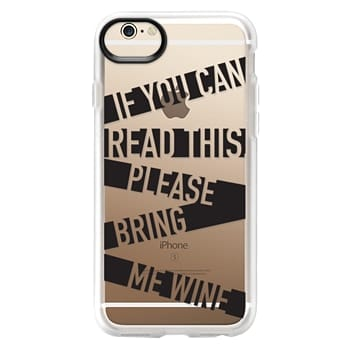 Grip iPhone 6 Case - If you can read this please bring me wine - stripes