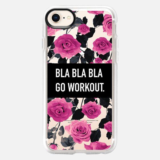 Bla bla bla go workout roses floral - Snap Case
