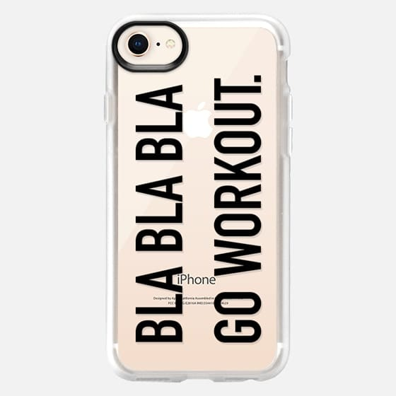 Bla bla bla go workout large black - Snap Case