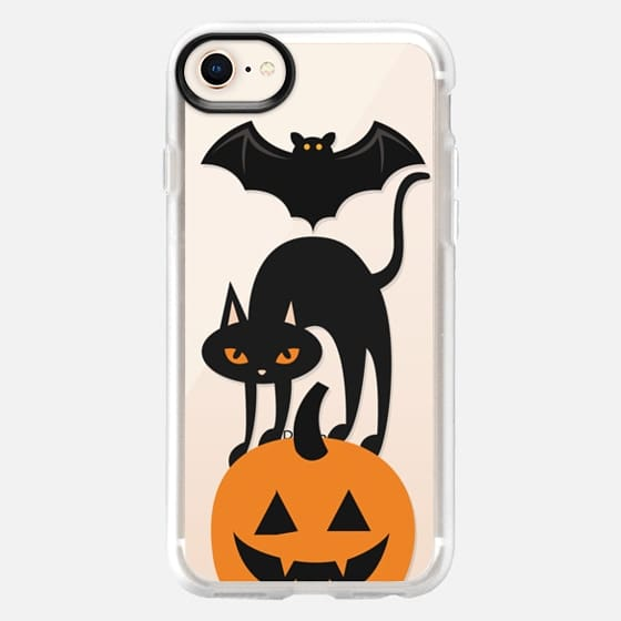 Bat, cat pumpkin totem - Snap Case