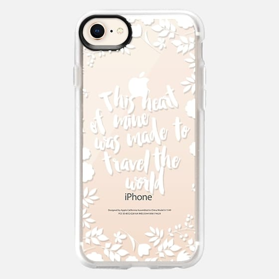 This heart of mine was made to travel the world white - Snap Case