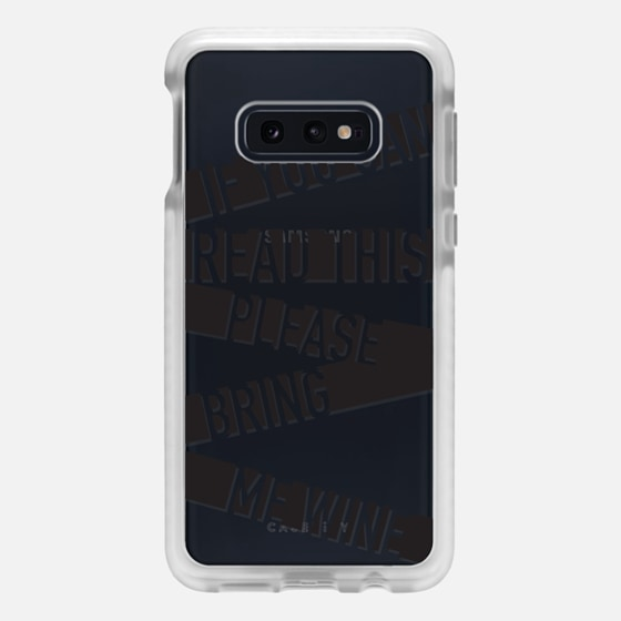 Samsung Galaxy / LG / HTC / Nexus Phone Case - If you can read this please bring me wine - stripes