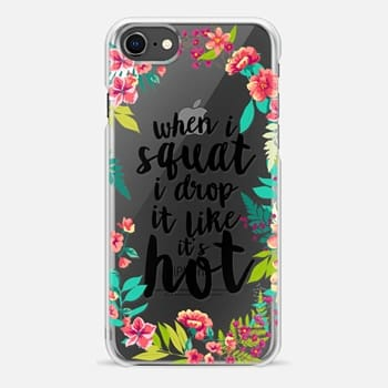 iPhone 8 Case When i squat floral wreath