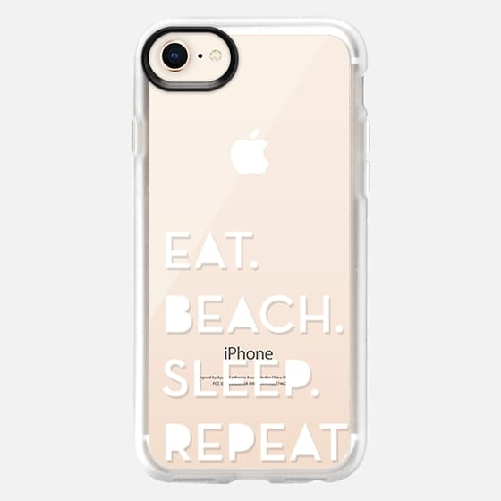 EAT,SLEEP,BEACH,REPEAT white - Snap Case