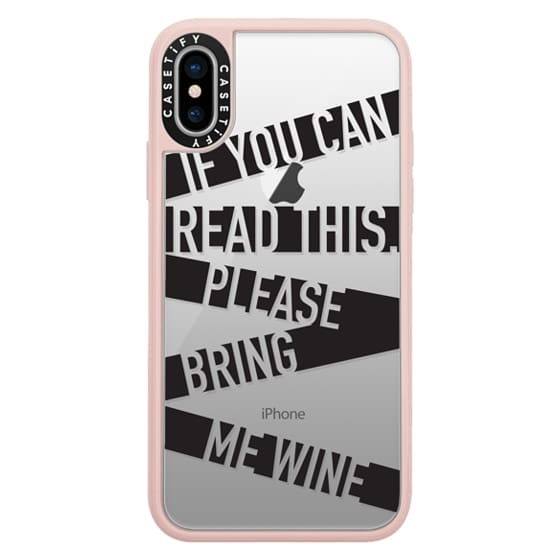 iPhone X Cases - If you can read this please bring me wine - stripes