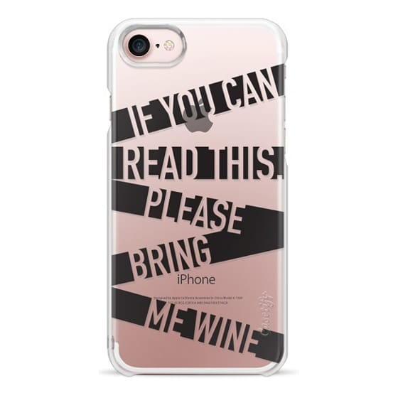 iPhone 7 Cases - If you can read this please bring me wine - stripes