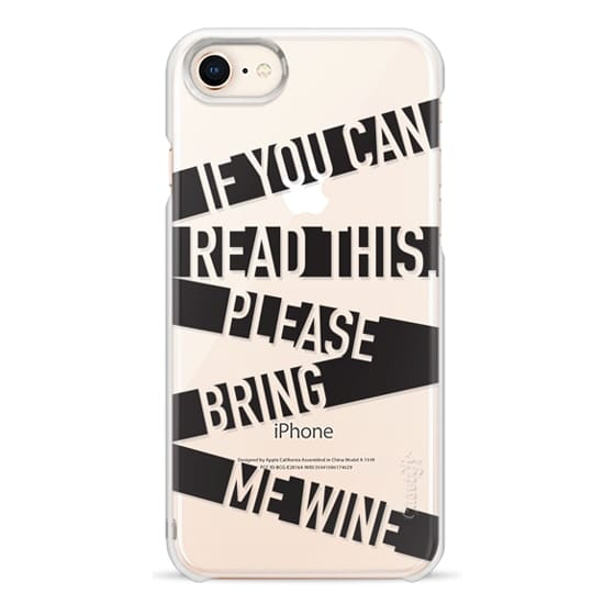 iPhone 8 Cases - If you can read this please bring me wine - stripes