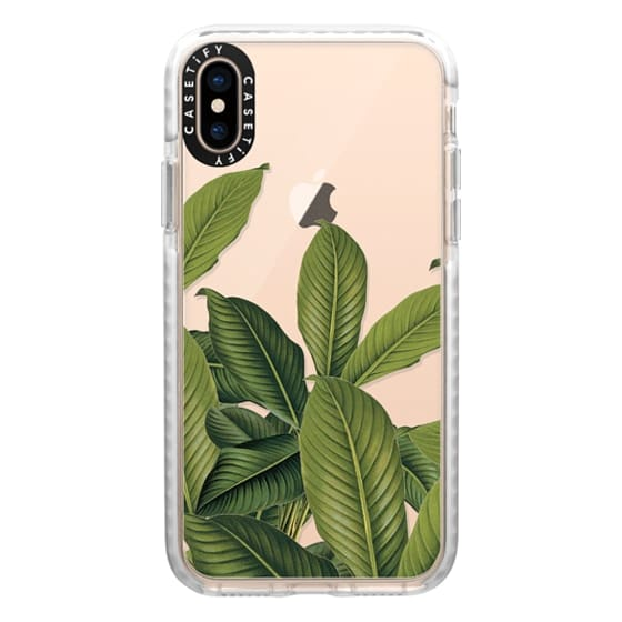 iPhone XS Cases - Tropical Leaves