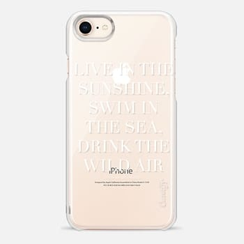 iPhone 8 Case Live in the sunshine white