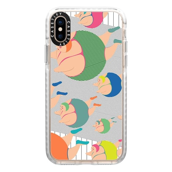 iPhone XS Cases - Synchronised Neon Swimmers