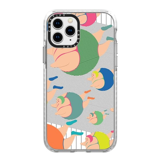 iPhone 11 Pro Cases - Synchronised Neon Swimmers