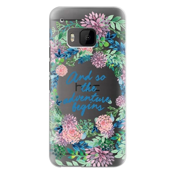 Htc One M9 Cases - And so the adventure begins- quote watercolor flowers