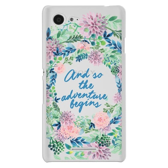 Sony E3 Cases - And so the adventure begins- quote watercolor flowers