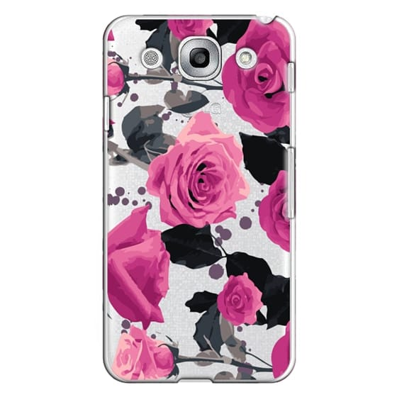 Roses and paint splatter pinks