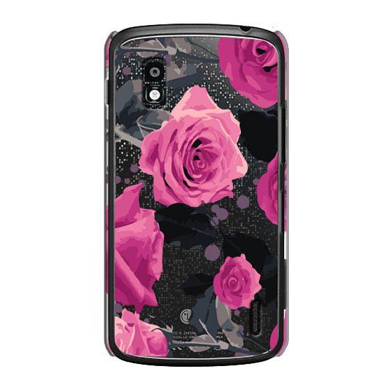 Nexus 4 Cases - Roses and paint splatter pinks