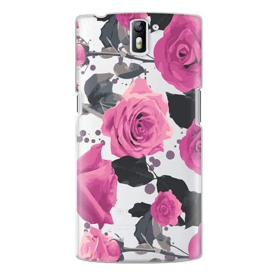 One Plus One Cases - Roses and paint splatter pinks