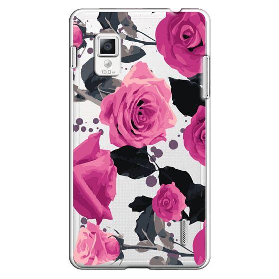 Optimus G Cases - Roses and paint splatter pinks