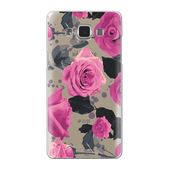 Samsung Galaxy A5 Cases - Roses and paint splatter pinks