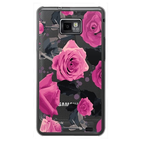 Samsung Galaxy S2 Cases - Roses and paint splatter pinks