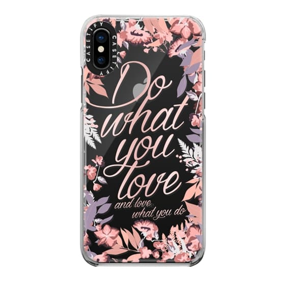 iPhone X Cases - Do what you love - nude