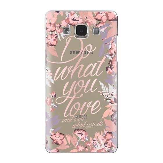 Samsung Galaxy A5 Cases - Do what you love - nude